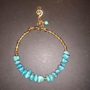 Jewelry - SEAM BEAD AND TURQUOISE NUGGET BRACELET